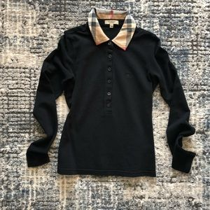 Authentic Burberry Long Sleeve Collar XS